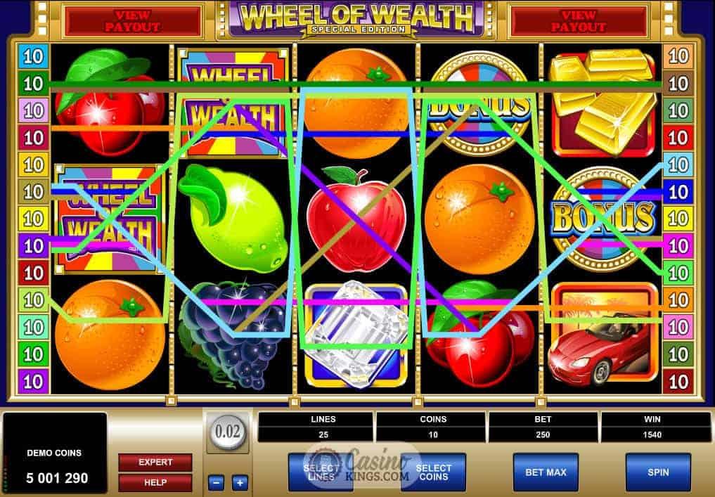 wheel of wealth special edition casino slots