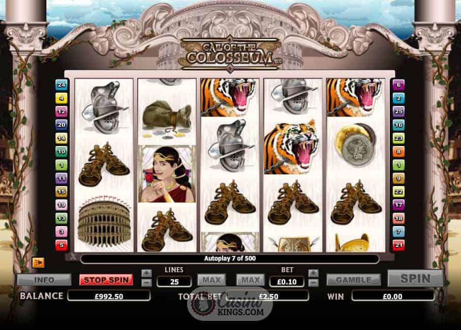 call of the colosseum casino