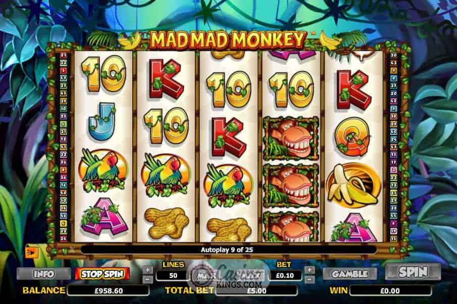Image result for Mad Mad Monkey Slot