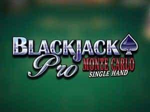 Blackjack Pro Montecarlo Singlehand
