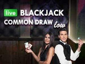 Live Blackjack Common Draw Low