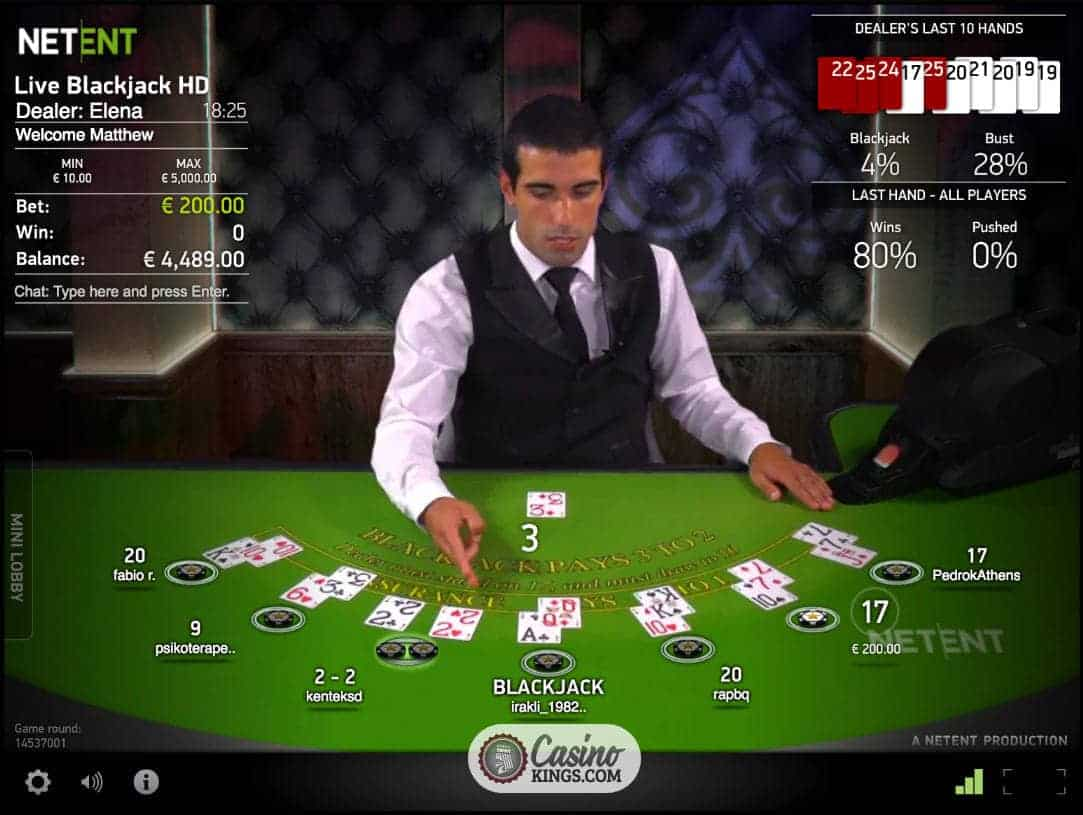 netent blackjack live
