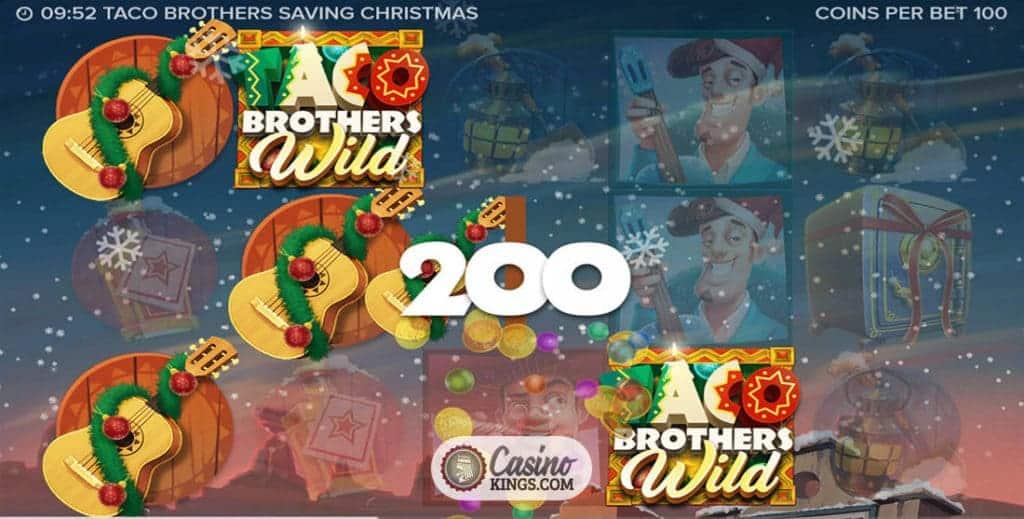 Taco-Brüder sparen Weihnachts-Slot | Bis zu 200£ Willkommensbonus