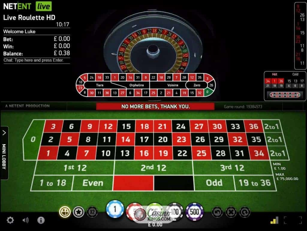 Automatic Roulette Live Casino Game By Netent Casino Kings