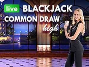 Live Blackjack Common Draw High
