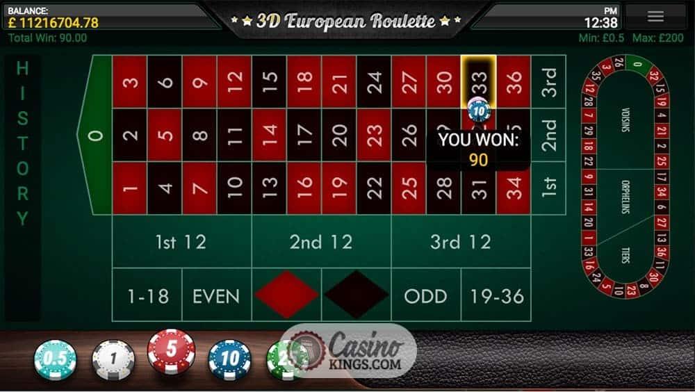 Play roulette online 3d
