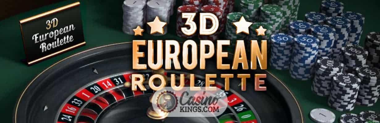 3D European Roulette-game